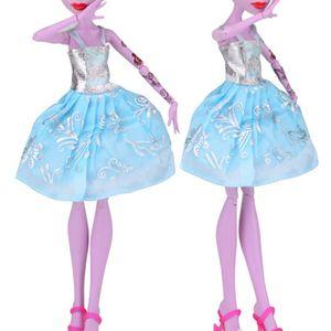 Gelegentliche Farbe Kleidung Monster High-School-Elf-Puppe Kleidung und Accessoires ich wünsche eaby AliExpress heiße Explosion Modelle