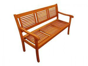 Gartenbank Akazie 150 cm 3-Sitzer Sitzbank CORUNA