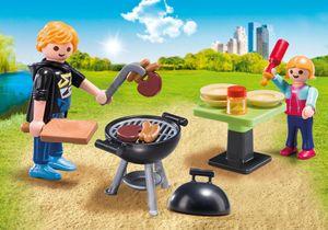 Playmobil FamilyFun Backyard Barbecue Carry Case, Kunststoff, Mehrfarbig