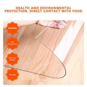 Wasserdichte PVC durchsichtige Tischdecke Tischdecke Transparenter Schreibtischschutz Pad Mat