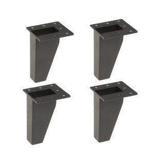 4xmetall Möbel Sofa Bein Anti-Feuchtigkeit Füße für Couch Stuhl Schrank 10cm blk Schwarz Solide