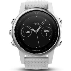 Garmin 010-01685-00 FENIX5S Uhr Herrenuhr Silikon Datum Weiß