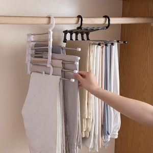 2 Stk Hosenregal Edelstahl Multifunktionaler Kleiderschrank Magic Hanger Platzsparend Kleiderbügel Anti-Rutsch Garderobenbügel Hemdbügel
