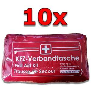 10x RAU KFZ-Verbandtasche Rot