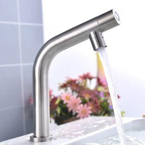 Edelstahl Einhebelmischer Kaltwasser Waschbeckenarmatur Wasserhahn Spültischarmatur