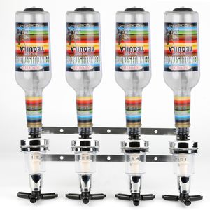 JEOBEST Getränkeportionierer  mit Wandhalterung | Flaschenhalter Getränkespender 4tlg