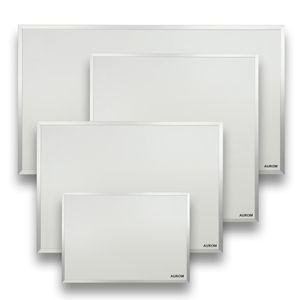 AUROM Sonplex Infrarotheizung Aluminium 300 – 1100 Watt, IP-X4, Weiß, mit Rahmen 900 Watt
