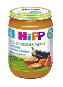HiPP Menüs ab 6.Monat, Couscous-Gemüse-Pfanne, DE-ÖKO-037 - VE 190g