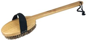 SudoreWell® hochwertige Rückenbürste Körperbürste lang aus Bambusholz mit Naturhaar