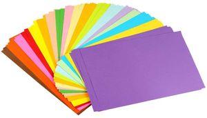 Buntpapier Farbigen A4 Kopierpapier Papier mehr Spaß am Basteln Gestalten Dekorieren Zuschnitt-Papier 100 Blätter 10 Verschiedene Farben für DIY Kunst Handwerk