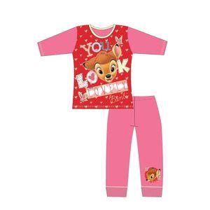 Disney Mädchen Schlafanzug mit Bambi-Design 564 (110) (Pink/Rot)