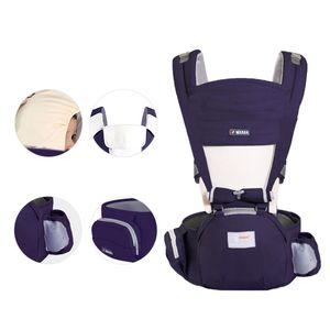 Hikeren Babytrage, geeignet für Kinder von 0-4 Jahren, ergonomisch geformte Babytrage, dunkelblau
