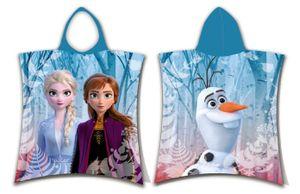 Disney Frozen Bade Poncho Kapuze Duschtuch Badetuch Strandtuch  50x115 cm