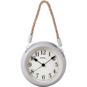 Maritim Design Wand-Uhr Technoline Wt 7130 Weiss Grau 22Cm Küchen-Uhr Bahnhofs-Uhr Rund Ziffern