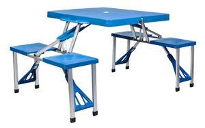 Alu Campingtisch Koffertisch mit Stühlen Koffergarnitur Sitzgarnitur Klappbar mit Tragegriff 7894