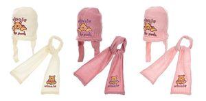 Disney Winnie Pooh Baby Winter-Set Winter-Mütze + Schal, Farbe:Rosa, Größe:44