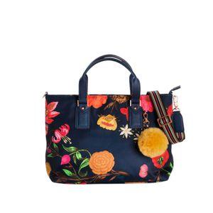 Oilily Winter Bouquet Handbag Navy Night