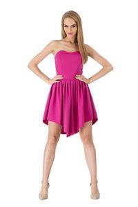 Kleid Sommerkleid Cocktail Mini-Kleid, Fuchsia S/36
