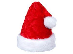 Weihnachtsmann Mütze Weich Nikolausmütze plüsch rot Wm-65