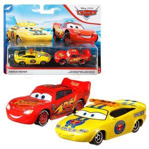 Auswahl Doppelpack | Disney Cars | Fahrzeug Modelle 2020 | Cast 1:55 | Mattel, Typ:Charlie Checker & Flash McQueen