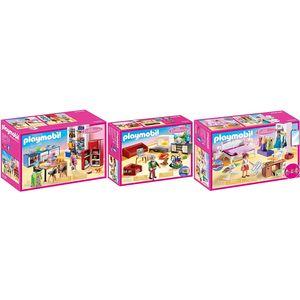 PLAYMOBIL 70206-07-08 Dollhouse 3er Set K?che + Wo