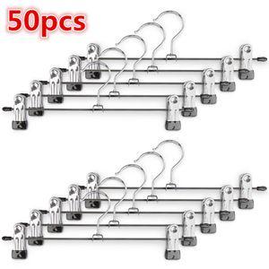 50 Stück Kleiderbügel Clip,Klammerbügel Metall,Anti-Rutsch Hosenbügel Metall Kleiderbügel Rockbügel
