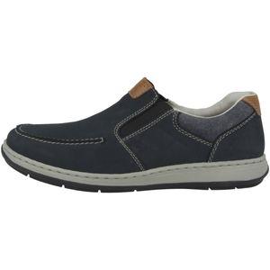 Rieker 17360 Schuhe Herren Halbschuhe Slipper extra Weit, Größe:41 EU, Farbe:Blau