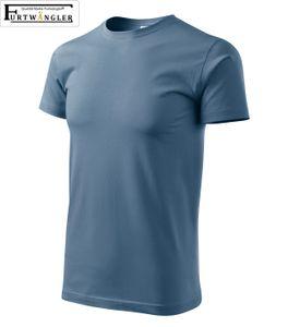T-Shirt Denim-blau Kindershirt Größe 122 / 6 Jahre Furtwängler Basic 160g/m² verstärkte Schulterpartie