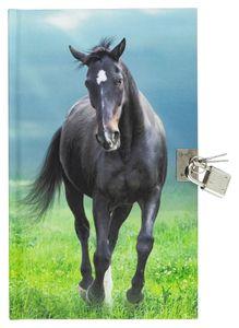 """Tagebuch mit Schloss / """"Pferd"""""""