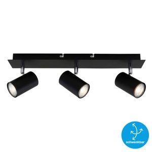 Deckenspot Schwenkbar Deckenlampe 3xGU10 max. 40W Schwarz Briloner Leuchten