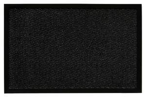 Fußmatte 120 x 180 cm Schwarz Türmatte Sauberlaufmatte für Innen- und überdachte Außenbereiche mit rutschhemmender Rückseite