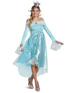 Super Mario Rosalina-Kostüm Karneval blau