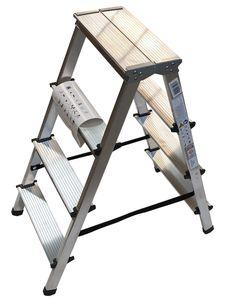 Trittleiter Leiter 4 Stufen zweiseitige Haushaltsleiter Bockleiter Klappleiter