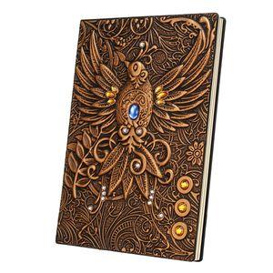 3D-Notizbuch Vintage-Druck Geprägte Phoenix Reisetagebuch Notizbuch Journal Leder Geschenk Bibel Buch Handwerk