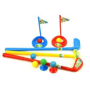 Kinder-Golf-Set Kindersport, 3 Golfschläger 6 Golfbälle  2 Loch 2 Tee, Kids Golf, Golfgeschenke Kinder Übungsgolf-Golfset