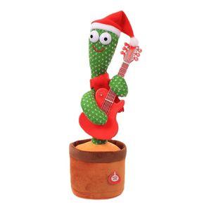 Tanzender Kaktus Elektrisches Plüschtier, USB-Aufladung Singender und Sprechender Kaktus Kuscheltiere mit 120 englischen Liedern, Spielzeug Geschenk für Jungen, Mädchen(B)