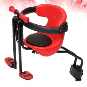 Kinderfahrradsitz Verstellbarer Sicherheitssitz Schnellverschlusssitz fš¹r faltbares Fahrrad MTB Rennrad (rot)