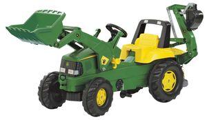 rolly toys Junior John Deere Trettraktor mit Heckbagger, Maße: 164,5x53x76 cm; 81 107 6