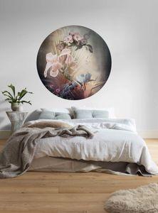 """Komar Vlies Fototapete rund und selbstklebend """"Flemish Flowers"""" - Größe: 125 x 125 cm (Breite x Höhe) - 1 Stück"""