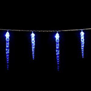 DEUBA® LED Lichterkette Eiszapfen Eisregen Innen Außen Weihnachtsbeleuchtung, Modell:40 Eiszapfen x 4 LEDs Blau