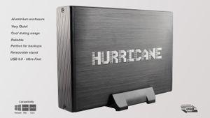 "Hurricane GD35612 3TB Aluminium Externe Festplatte, 3.5"" HDD USB 3.0, 64MB Cache, 3000GB fr Mac, PC, Backups"