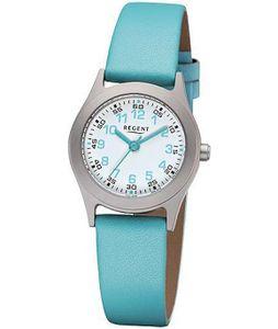 Regent Kinder Armbanduhr F1119 Titan Leder Blau