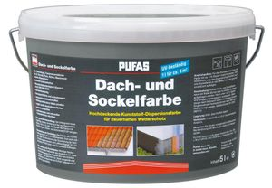 PUFAS Dach- und Sockelfarbe - schiefer 950 - 5 Liter