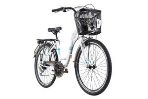 Damenfahrrad Cityrad 26'' Geroni Siro weiß  mit Korb RH 44 cm KS Cycling