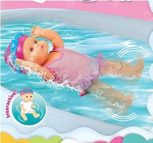 Wasserdichte Batterie Schwimmende Puppe,Badepuppe Frühen Pädagogisches Kinderspielzeug Wasserspielzeug für die Badewanne (32.5*13.5*9CM)