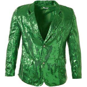 dressforfun Pailletten-Jackett Herren - grün, XL
