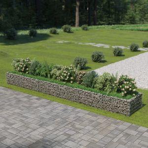 Gabionen-Hochbeet Garten-Hochbeet Hochbeet Verzinkter Stahl 540×90×50 cm