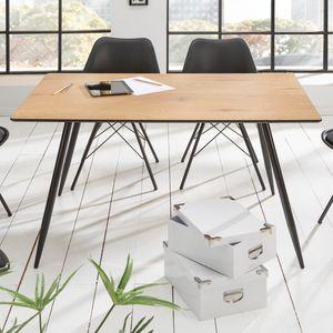 Design Esstisch APARTMENT 140cm Eichen-Optik Retro Style Tisch Küchentisch