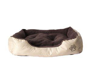Hundebett Katzenbett Hundekorb Hundekissen Haustier Hundedecke Beideseitig Bezug abnehmenbar 80X60X20cm (AD-01)