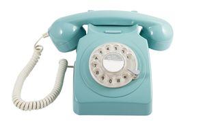 GPO Retro 746, Analoges Telefon, Kabelgebundenes Mobilteil, Blau